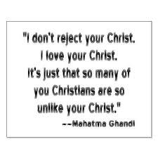 Mahatma Ghandi on Christians
