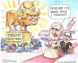 trumpgoldencowwithpope